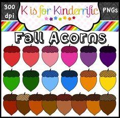 Acorn Clip Art / Clipart Freebie!
