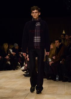 Wool and cashmere typographic jacquard sweater paired with wool and mohair wide-leg trousers
