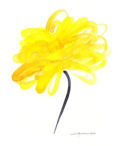 simple watercolor flower