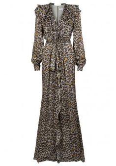 CAROLINA HERRERA  Leopard Print Gown