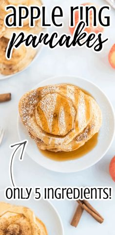 These tasty apple ring pancakes are simple, easy, and make light and fluffy pancakes. Healthy with fresh fruit, this recipe uses cinnamon and syrup with pancake batter. Can be made with Bisquick, pancake mix, or gluten-free baking mix. Topped with cinnamon Best of the breakfast recipes! #comfortfood #glutenfreerecipes #gluten-free #weeknightmeals #whatsfordinner #30minutemeals #breakfast #breakfastfordinner Breakfast For Dinner, Breakfast Recipes, Pancakes On A Stick, Gluten Free Baking Mix, Light And Fluffy Pancakes, Potato Wedges Baked, Cooked Apples, Apple Recipes, Oven Recipes