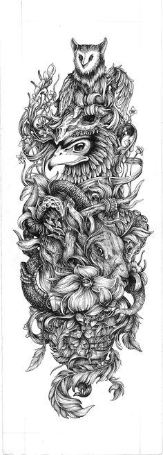 Learn To Draw Animals - Drawing On Demand Full Tattoo, Dark Tattoo, Tattoo Arm, Tattoo Sleeve Designs, Sleeve Tattoos, Tattoo Sketches, Tattoo Drawings, Tattoo Perna, Totem Tattoo