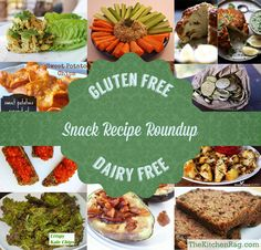 Gluten Free Dairy Free Snack Recipe Round Up