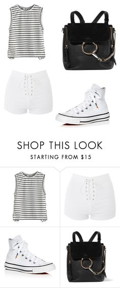 """Dedicated to Kingie"" by kim-mj on Polyvore featuring Topshop, Converse and Chloé"