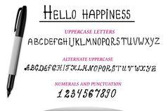 Vector marker Alphabet, numerals. Script Fonts