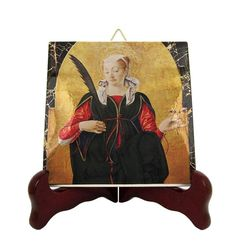Saint Lucy of Syracuse - St Lucy icon on ceramic tile - Saint Lucia - St Lucy - italian saints serie - Santa Lucia - Saint Lucy icon Catholic Gifts, Catholic Art, Religious Gifts, The Good Catholic, Saint Lucia, Religious Icons, Christian Gifts, Tile Art, Etsy Store