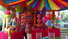 decoracion candy en globos - Buscar con Google