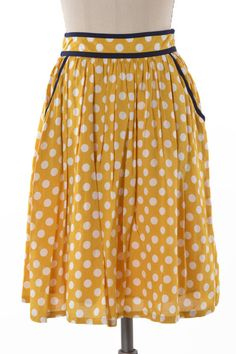 Sydney Skirt (Yellow Polka)