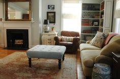 DIY upholstered ottoman/coffee table