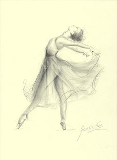BALLERINA. Art Print of original graphite pencil by EwaGawlik