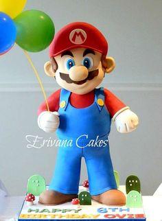 3d Super Mario Cake - by erivana @ CakesDecor.com - cake decorating website