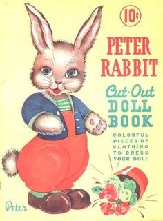 PETER-RABBIT-DOLL-BOOK-ORIGINAL-UNCUT-BOOK-FROM-1939