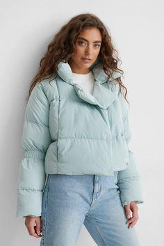 Puffer Jacket Blue | na-kd.com