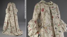 This dress was worn in 1763 by Mary Chaloner in Guiseborough, England, when she married Colonel John Hale.
