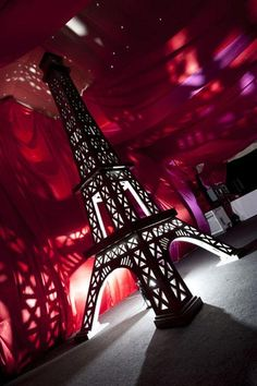 Eiffel Tower Prop at a Moulin Rouge Event