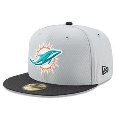 new arrivals 71964 83ac1 Miami Dolphins New Era 2017 Sideline 59FIFTY Fitted Hat - Gray -  39.99 Best  Caps,