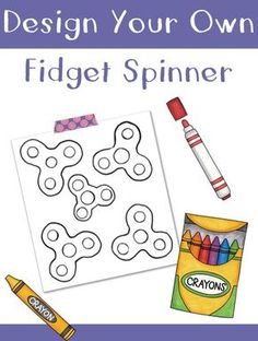 Design your own Fidget Spinner coloring sheet