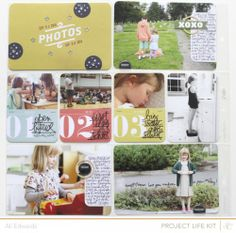 AE_PL2013_WK36_left... so many things to love about this page (1) journaling on small tabs and stapling to the 4x6 pics (2) journaling right on the picture (3) extending smaller 3x4 photos with journaling (4) and finally, she used digital stamps on some of her photos... but can use real stamps instead.... love love love it! easy way to get some scrapbooking done....