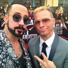 backstreet boys - brian littrell - aj mclean - bsb - mtv movie avards - winners! :)