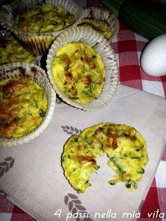 4 passi nella mia vita: Secondi piatti: Frittatine di zucchine al forno
