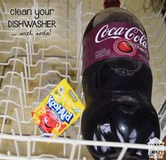 How to Clean a Dishwasher - One Crazy House Deep Cleaning Tips, House Cleaning Tips, Cleaning Solutions, Spring Cleaning, Cleaning Hacks, Cleaning Checklist, Cleaning Recipes, Diy Hacks, Cleaning Your Dishwasher