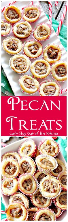 Pecan Treats | Can't Stay Out of the Kitchen | these miniature #pecanpies are our favorite #christmas #cookie. Everybody loves them. They have a cream cheese crust & #pecan & brown sugar filling to die for! #dessert