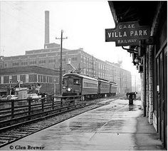 Villa Park train depot no longer served by the Chicago. Aurora  & Elgin RR.