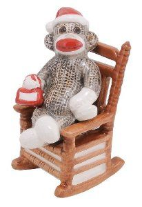 Sock Monkey Salt & Pepper by Sock monkey. $7.99. Magnet holds Sock Monkey to Chair. Hand Crafted/Hand Painted. 2.50L x 2.00W x 5.00H.