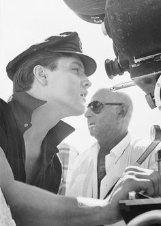 Elvis behind the camera on the set of 'Girls!, Girls!, Girls!'.