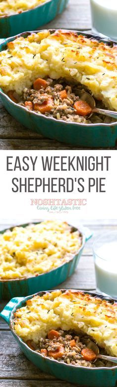 The BEST recipe for Gluten Free Shepherds Pie!  Only 338 Calories per serving and 8 Weight Watchers SmartPoints!  it's Low carb, gluten free and with paleo and Whole30 options.