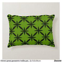 Clover green geometric trellis pattern accent pillow Soft Pillows, Accent Pillows, Throw Pillows, Green Cushions, Green Home Decor, Clover Green, Trellis Pattern, Decorative Cushions, Soft Fabrics