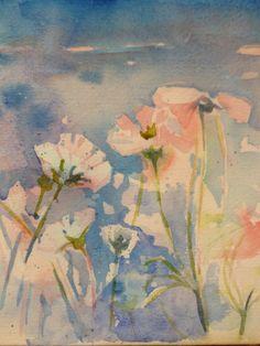 flowers, sky : Mark Langbein