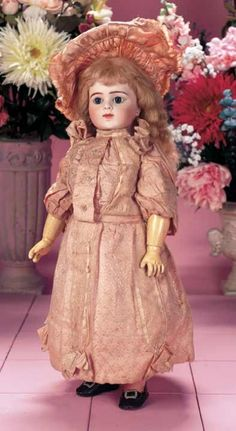 """Dimples & Sawdust: 217 Very Rare French Bisque Bebe Bru """"Respirant"""" with Original Costume"""