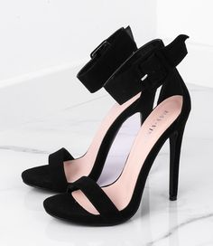 Black suede sandals on an allison high heel – Shoes World Suede Sandals, Black Sandals, Women's Shoes Sandals, Shoes World, Black Suede, Black Women, Peep Toe, High Heels, Prom