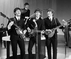 The Beatles on Ed Sullivan's Show (1964).