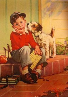 A Boy And His Dog Frances Tipton Hunter (1896 – 1957), American
