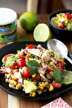 This Mexican Tuna Salad is delicious and very easy to make. Packed with tuna, roasted corn, tomatoes, avocados, black beans, onions and tossed in a light and tasty lime dressing. This protein-packed, healthy and easy tuna salad is one everyone will enjoy!