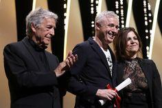 Le réalisateur  Robin Campillo avec le réalisateur grec- Costa-Gavras, une membre du jury- Agnes Jaoui