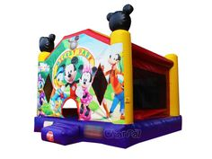 Mickey mouse clubhouse inflatable bounce house for sale at Channal Inflatables Disney Mickey Mouse Clubhouse, Cute Mickey Mouse, Mickey Mouse 1st Birthday, 1st Birthday Parties, Inflatable Bounce House, Inflatable Slide, Mickey Mouse Characters, Bouncy Castle, Tarpaulin