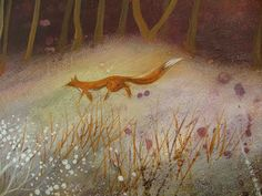 """This looks so much like the forests of Denmark.and Ravn, who prowls the woods and meadows."" by Artist Amanda Clark Fox Fantasy, Fantasy Art, Amanda Clarke, Fantastic Fox, Fabulous Fox, Fanart, Nostalgic Art, Clark Art, Magic Forest"