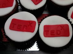 TEDx Cupcakes.  Red Velvet.  Delicious by Peter Bromberg, via Flickr