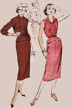 1950s Vintage Sewing Pattern Advance 8178 by sandritocat on Etsy, $25.00