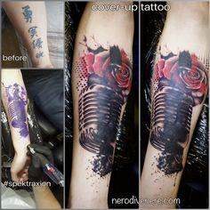 #tattoo #microphone #mic #rose #tattooist #illustration #artwork #sketch #ink #artist #watercolor #trashpolka #tattooidea #drawing #inkmaster #tattooartist