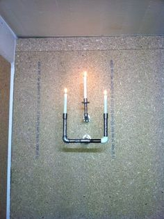 Plum candle holders. Made from upcycled plumbing pipe and fittings enquiries on,  wjjones69@hotmail.com  Many thanks JJ.