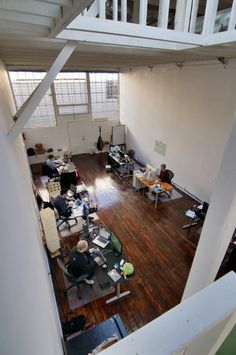@thehipmunk in San Francisco - interesting layout, similar size to our main office room