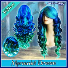 CosplayWigsUSA Store - Mermaid Dream, $55.00 (http://cosplaywigsusa.com/cosplay-wigs-usa/mermaid-dream/)