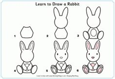 Drawing a bunny step by step