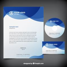 More than a million free vectors, PSD, photos and free icons. Letterhead Template Word, Stationery Templates, Abstract Waves, Blue Abstract, Letterhead Design Inspiration, Letterhead Business, Logo Samples, Certificate Design, Vector Freepik