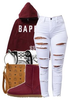 """""""Bape"""" by maiyaxbabyyy ❤ liked on Polyvore featuring MCM and UGG Australia"""