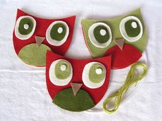 three christmas owls DIY Kit